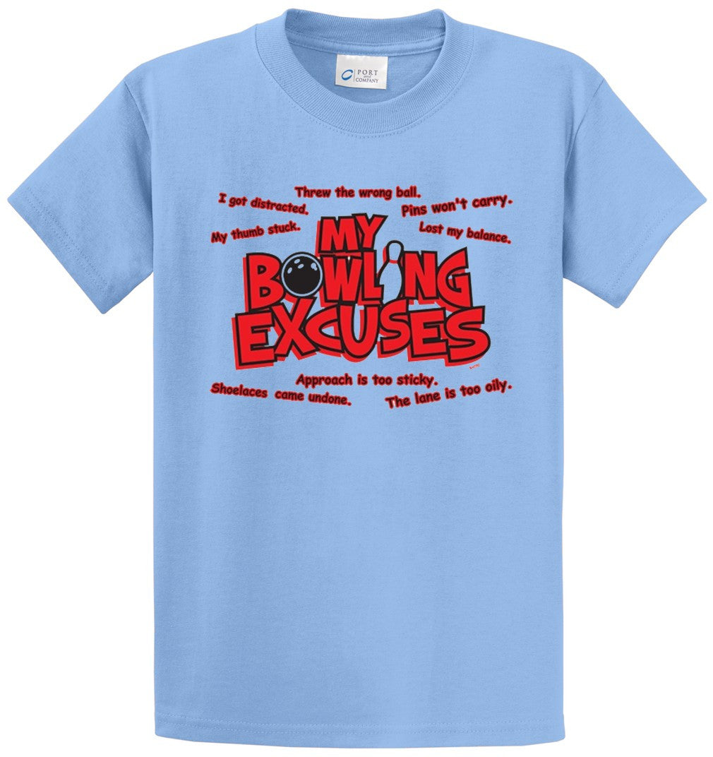 My Bowling Excuses Printed Tee Shirt-1