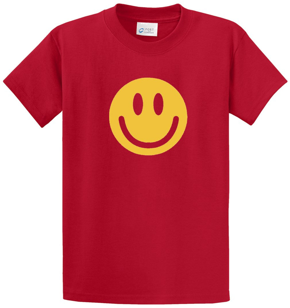 Smile Face Printed Tee Shirt-1