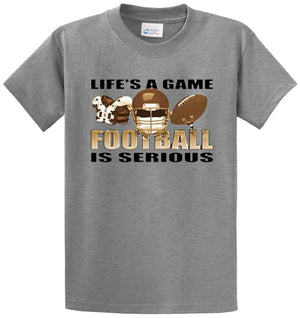 Life'S A Game Football Printed Tee Shirt