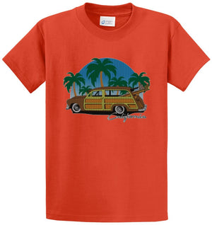 Knit Woody Cali Printed Tee Shirt