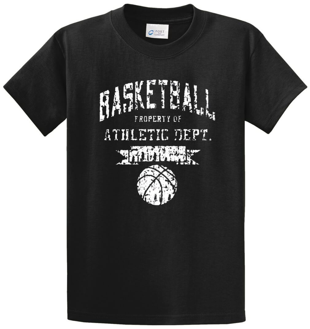 Basketball Athletic Printed Tee Shirt-1