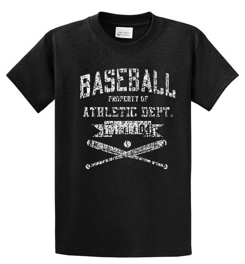 Baseball Athletic Dept Printed Tee Shirt-1