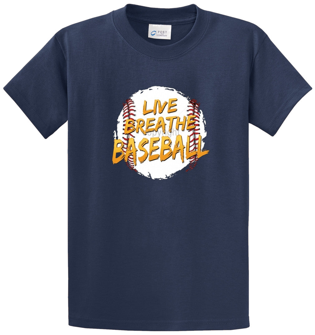 Live Breathe Baseball Printed Tee Shirt-1