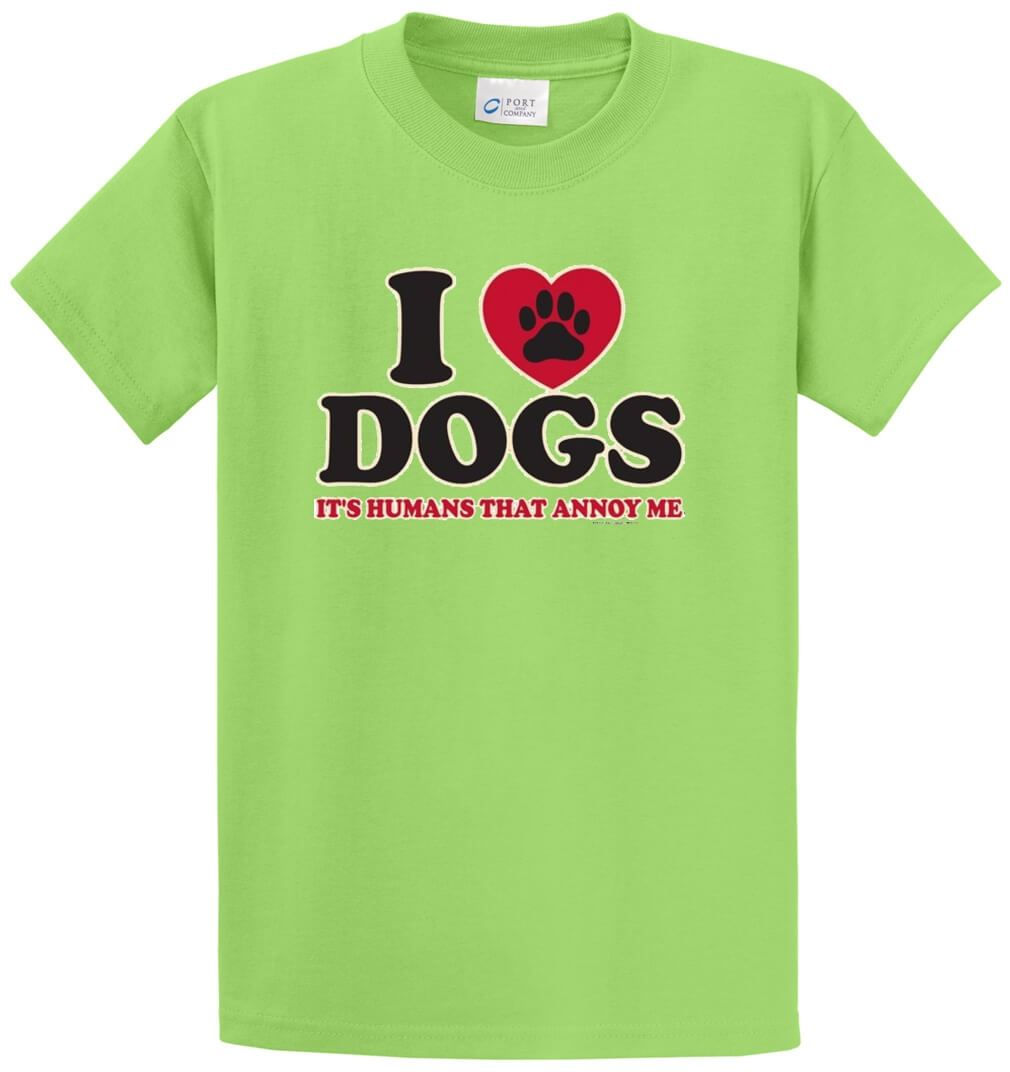 I Love Dogs Printed Tee Shirt-1