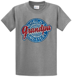 Worlds Greatest Grandpa Printed Tee Shirt