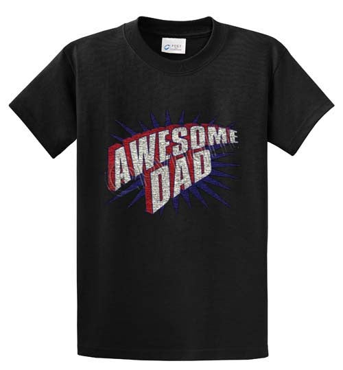 Awesome Dad Printed Tee Shirt-1