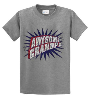 Awesome Grandpa Printed Tee Shirt