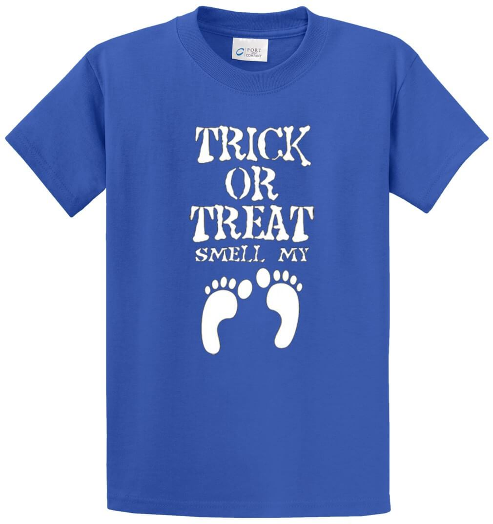 Trick Or Treat Smell My Feet Printed Tee Shirt-1