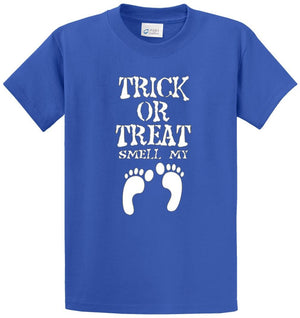 Trick Or Treat Smell My Feet Printed Tee Shirt