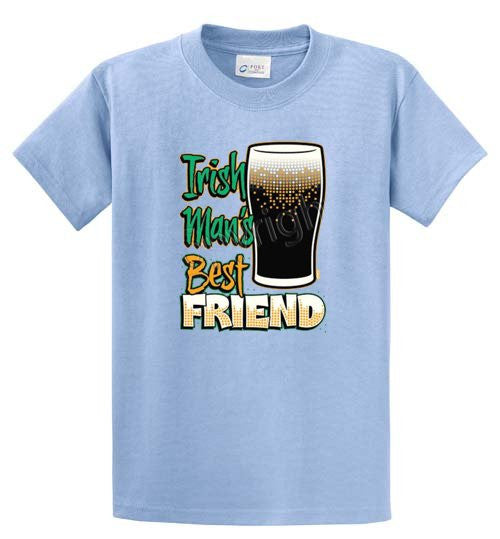 Irish Mans Best Friend Printed Tee Shirt-1