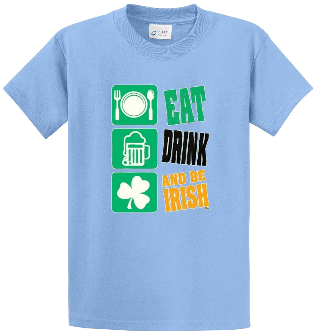 Eat Drink And Be Irish Printed Tee Shirt-1