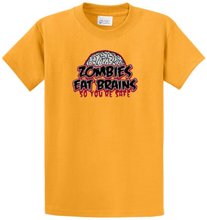 Zombies Eat Brains Printed Tee Shirt