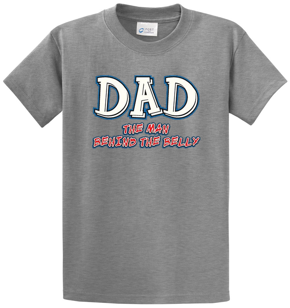 Dad, Man Behind The Belly Printed Tee Shirt-1