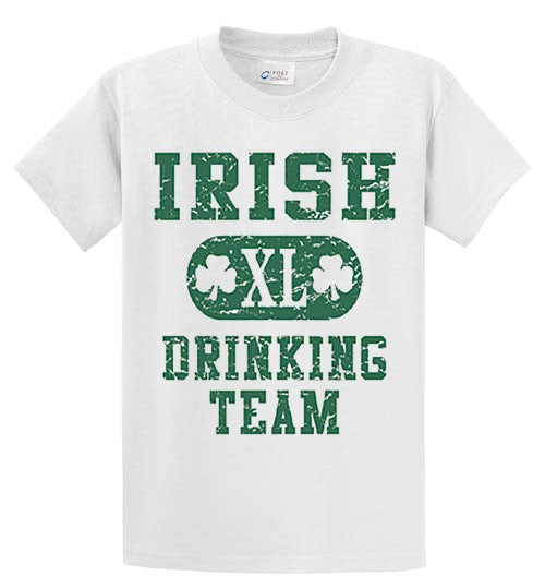 Irish 'Xl' Drinking Team Printed Tee Shirt-1