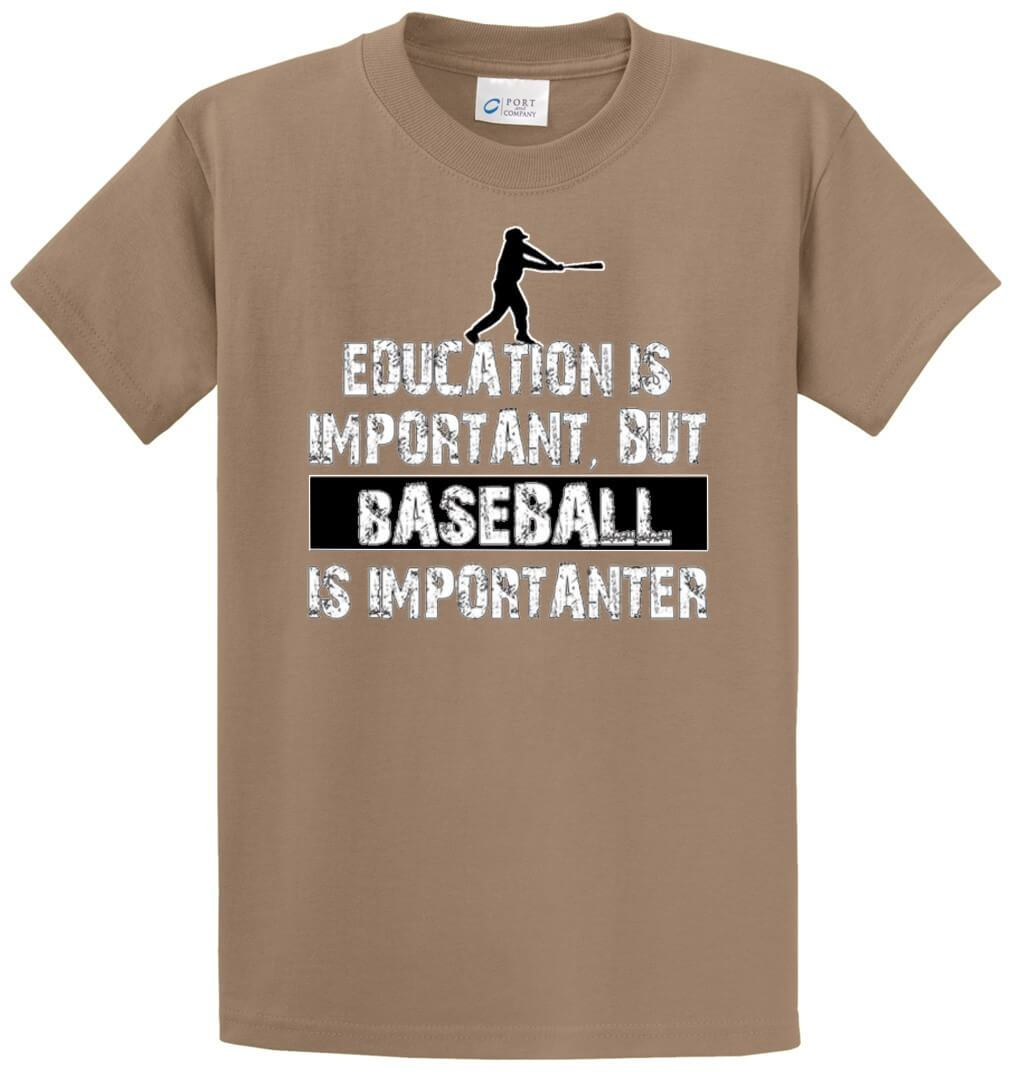 Baseball Is Importanter Printed Tee Shirt-1