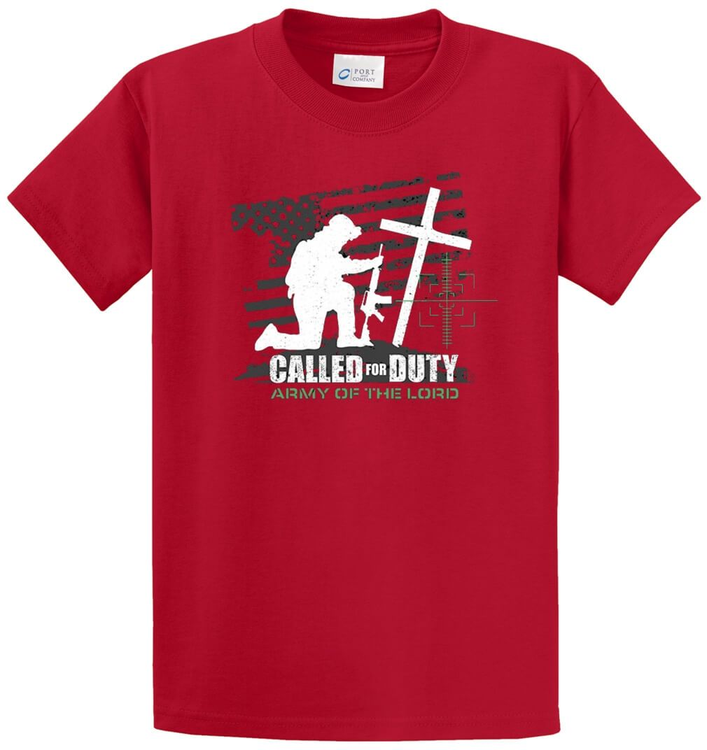 Called For Duty Printed Tee Shirt-1