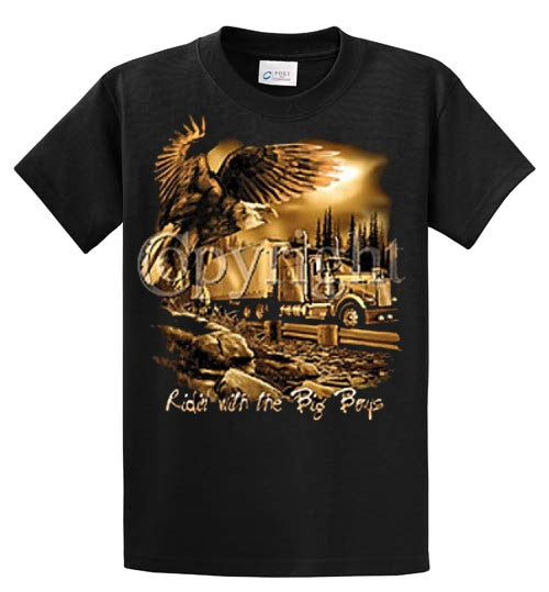 Ridin' With The Big Boys Printed Tee Shirt-1