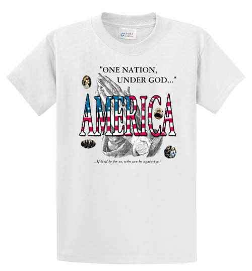 One Nation Under God Printed Tee Shirt-1