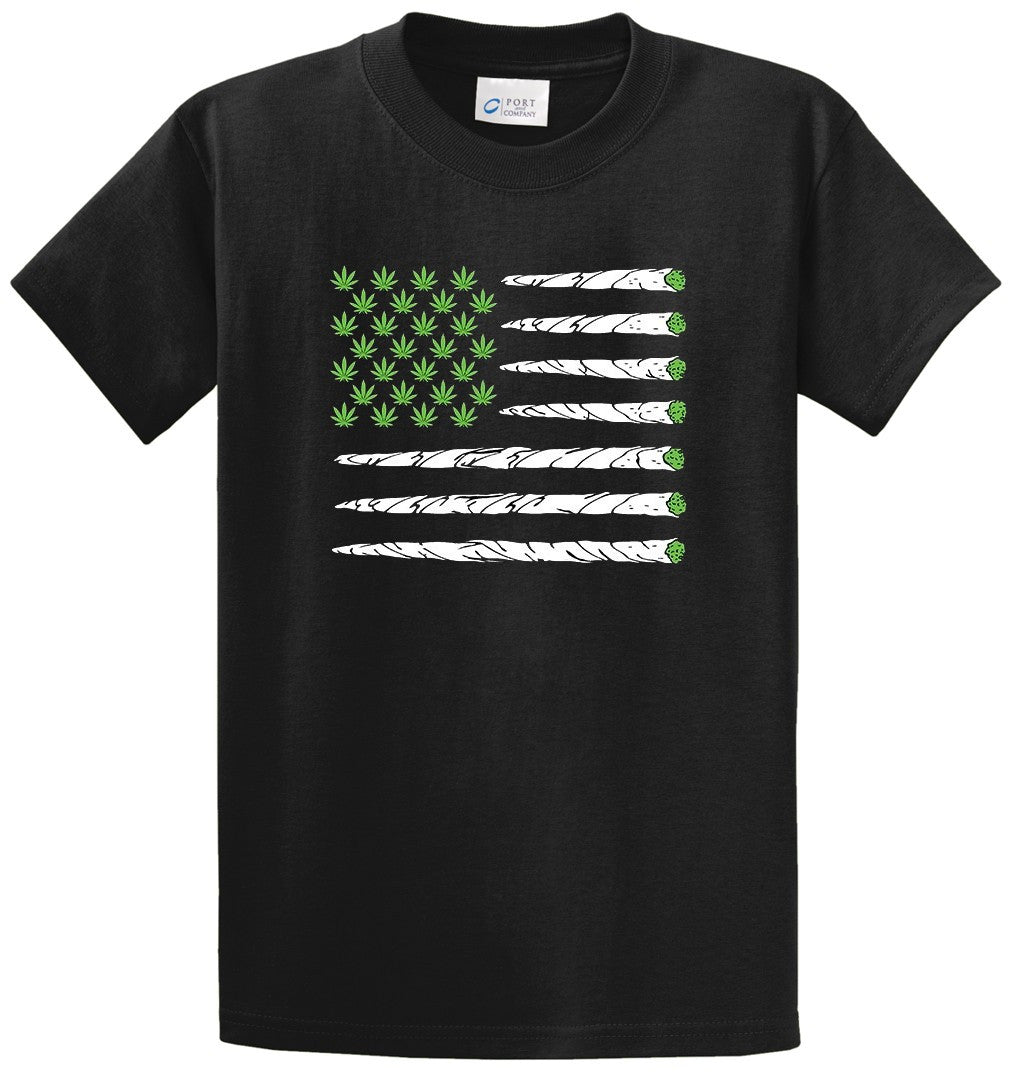 Marijuana Flag Printed Tee Shirt-1