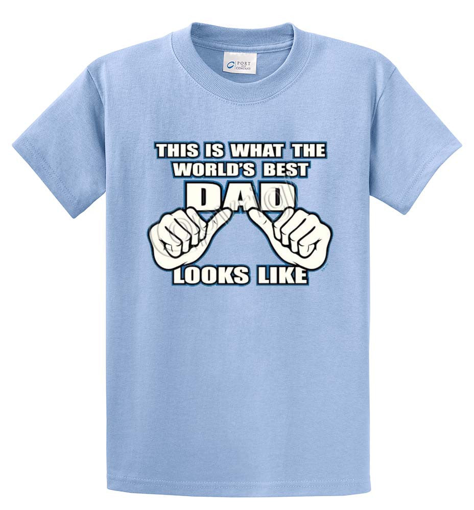 Best Dad Looks Like Printed Tee Shirt-1