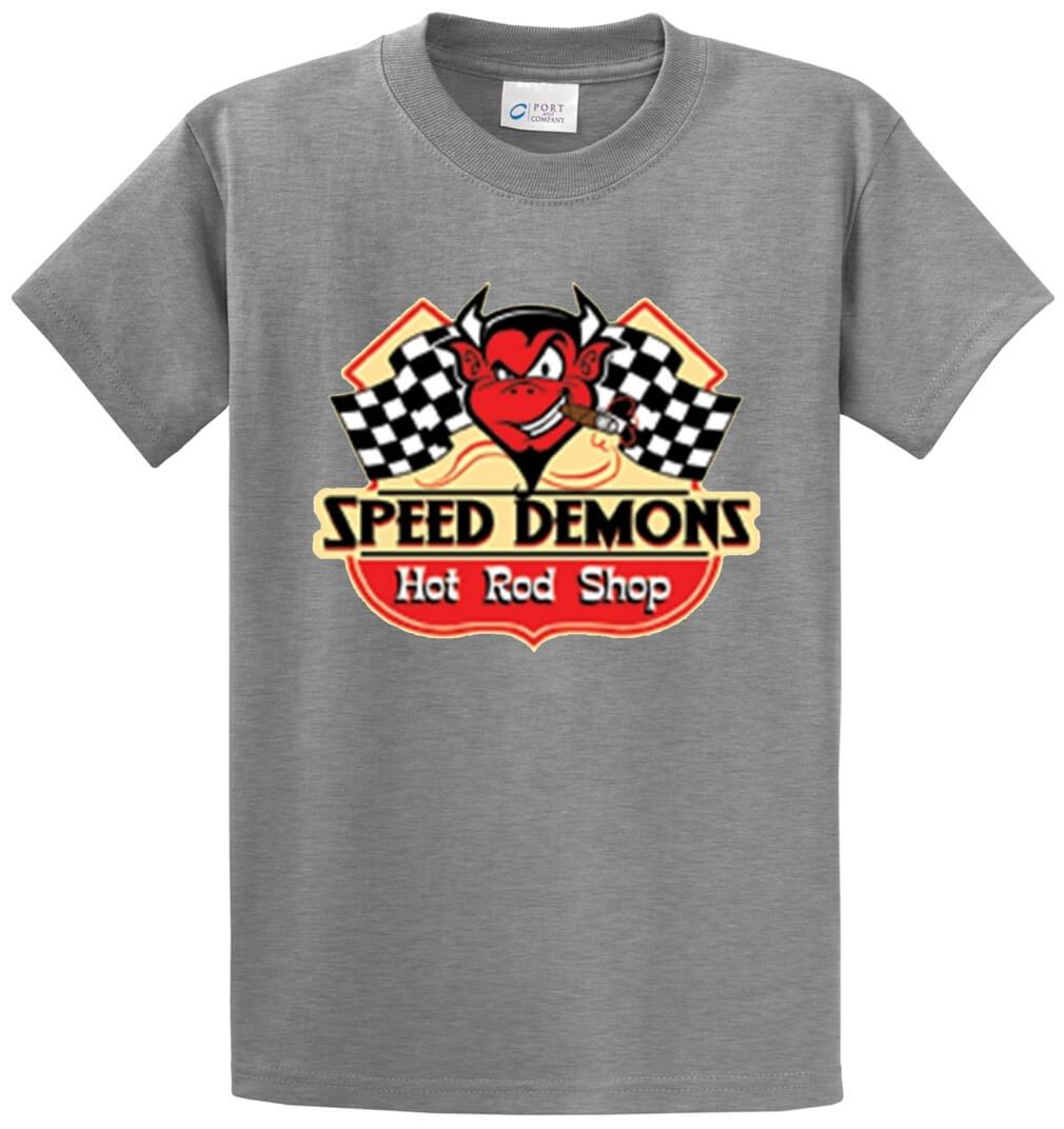 Speed Demons Hot Rod Shop Printed Tee Shirt-1