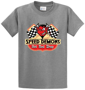 Speed Demons Hot Rod Shop Printed Tee Shirt