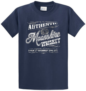 Authentic Moonshine Whiskey Printed Tee Shirt
