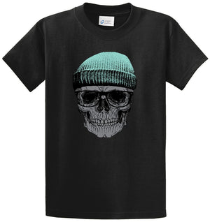 Skull With Cap Printed Tee Shirt