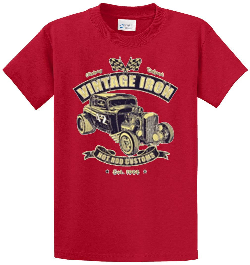 Vintage Iron Printed Tee Shirt-1