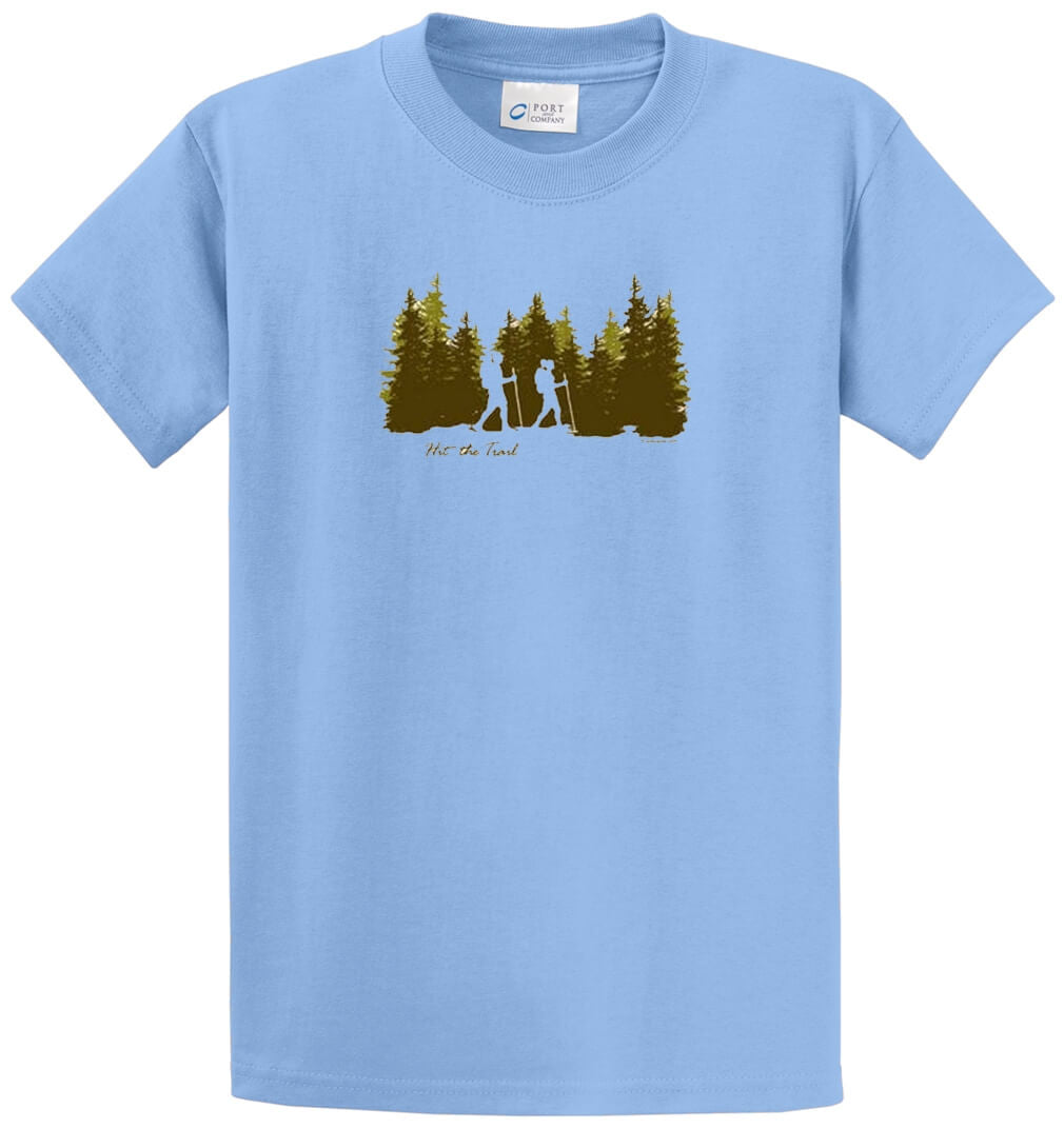 Hit The Trail Printed Tee Shirt-1