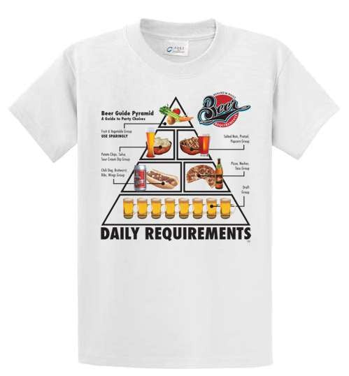 Daily Requirements Beer Printed Tee Shirt-1