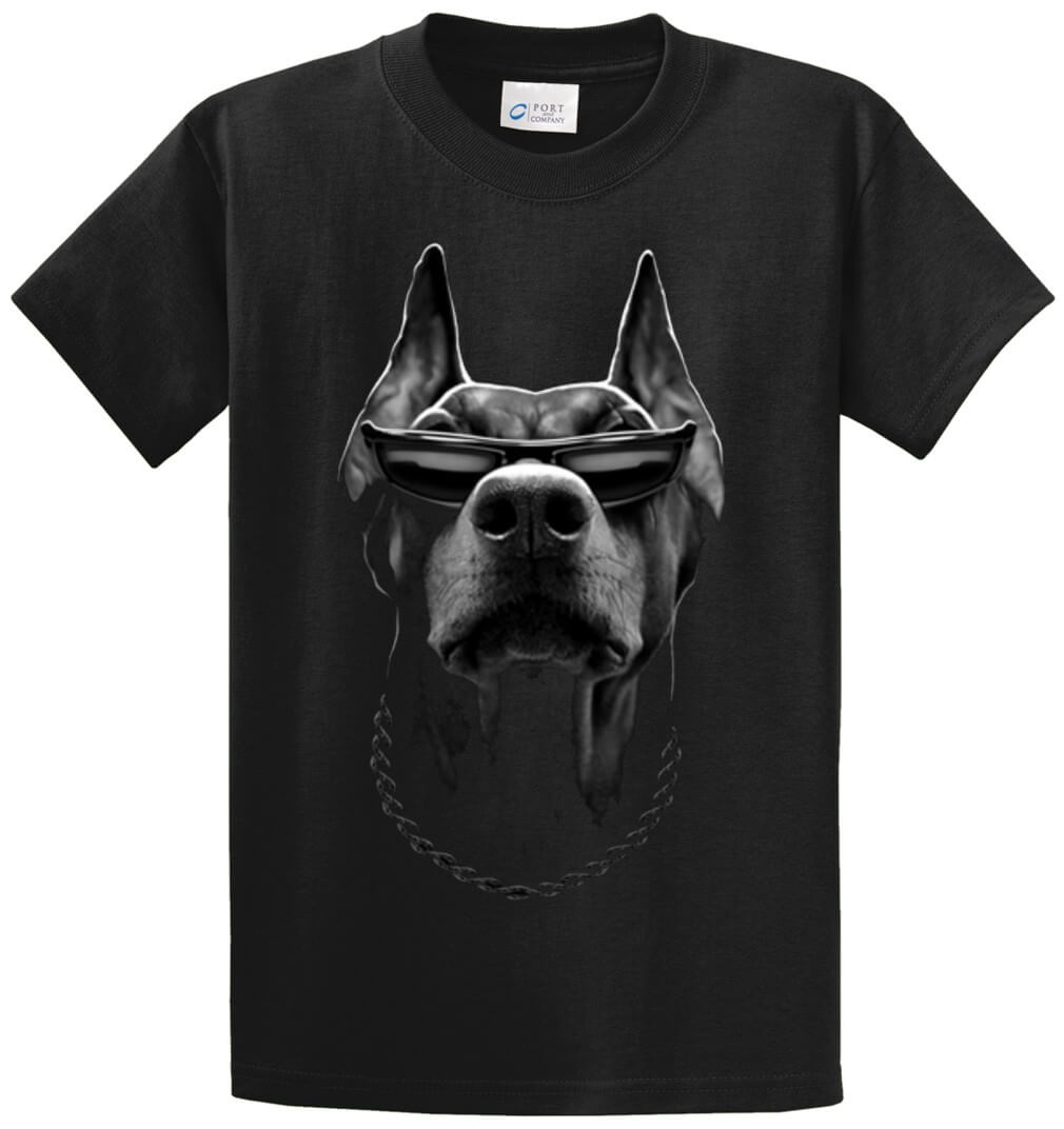 Doberman Printed Tee Shirt (Oversized)-1