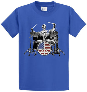 Rock 101 Lincoln Drummer Printed Tee Shirt