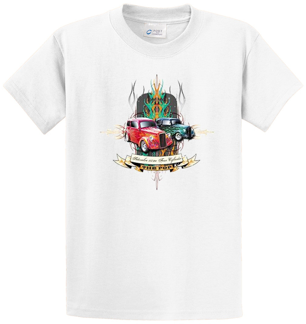Side Valve 4 Cylinder Printed Tee Shirt-1