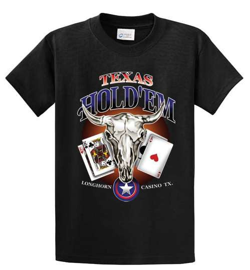 Texas Hold'Em Printed Tee Shirt-1
