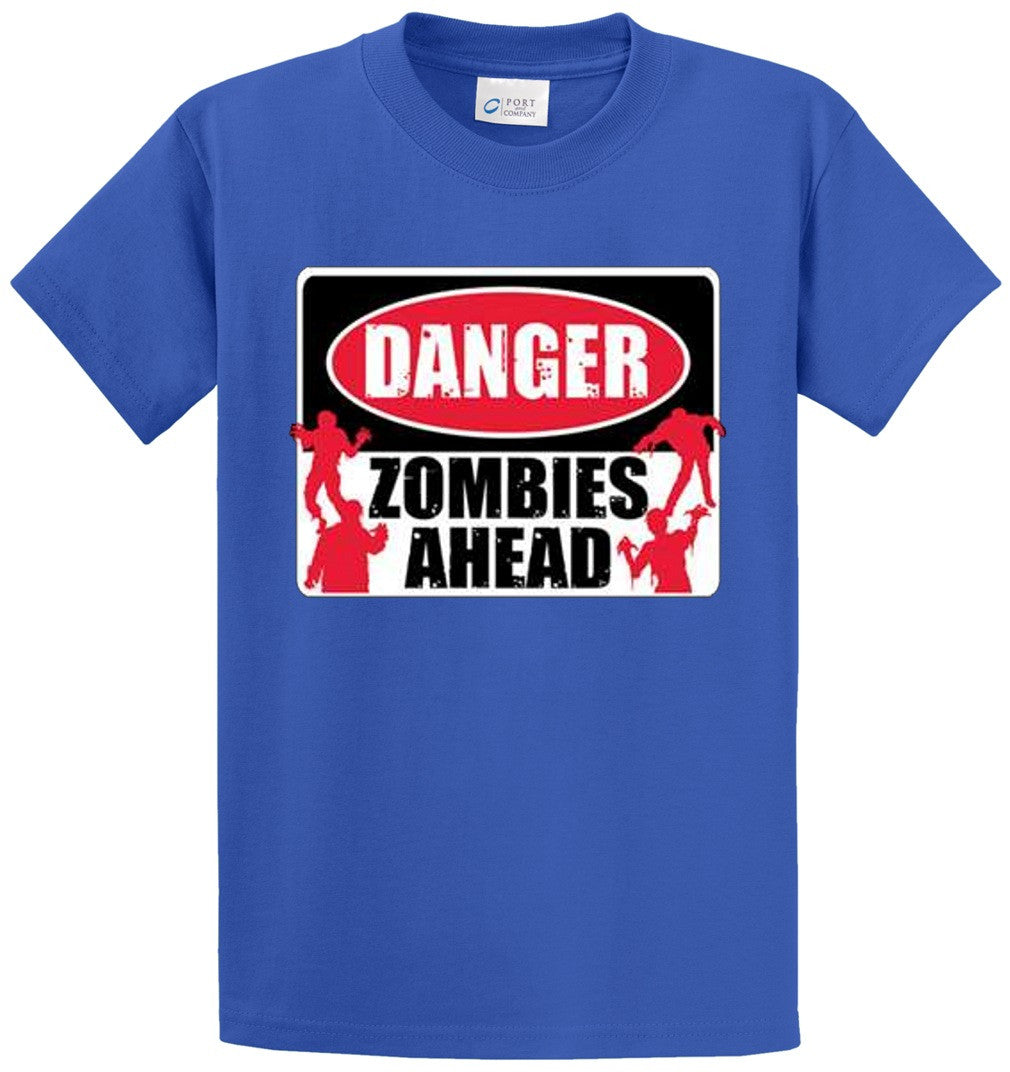 Zombies Ahead Printed Tee Shirt-1