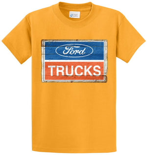 2001 Ford Trucks Logo Vintage Sign Printed Tee Shirt