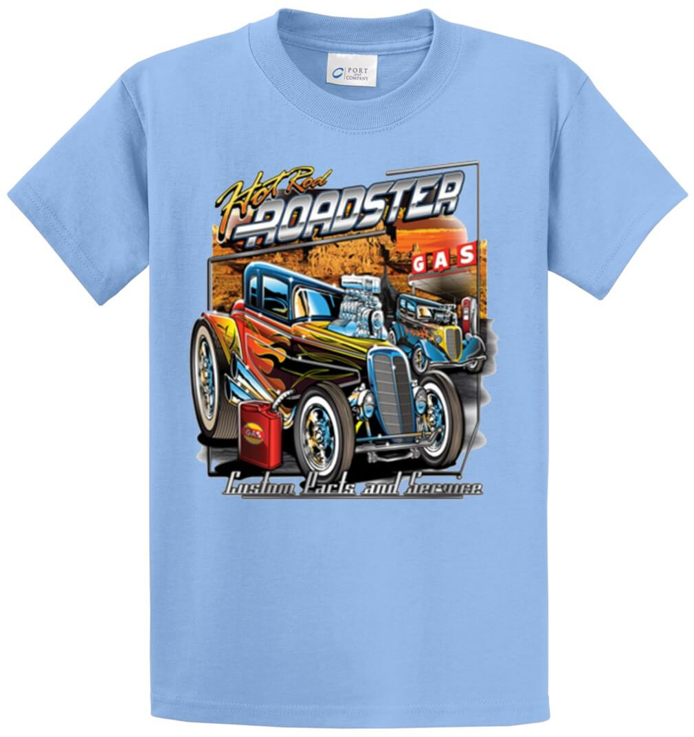 Hot Rod Roadster Printed Tee Shirt-1