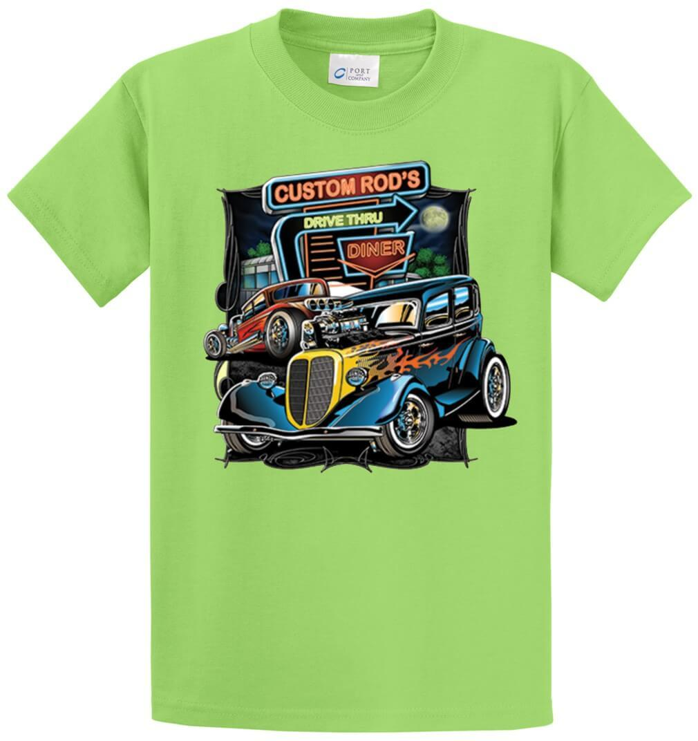 Custom Rod'S Drive Thru Printed Tee Shirt-1