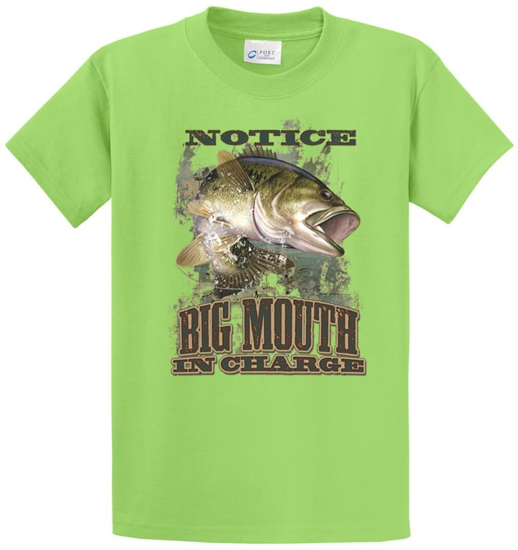 Big Mouth In Charge Printed Tee Shirt-1