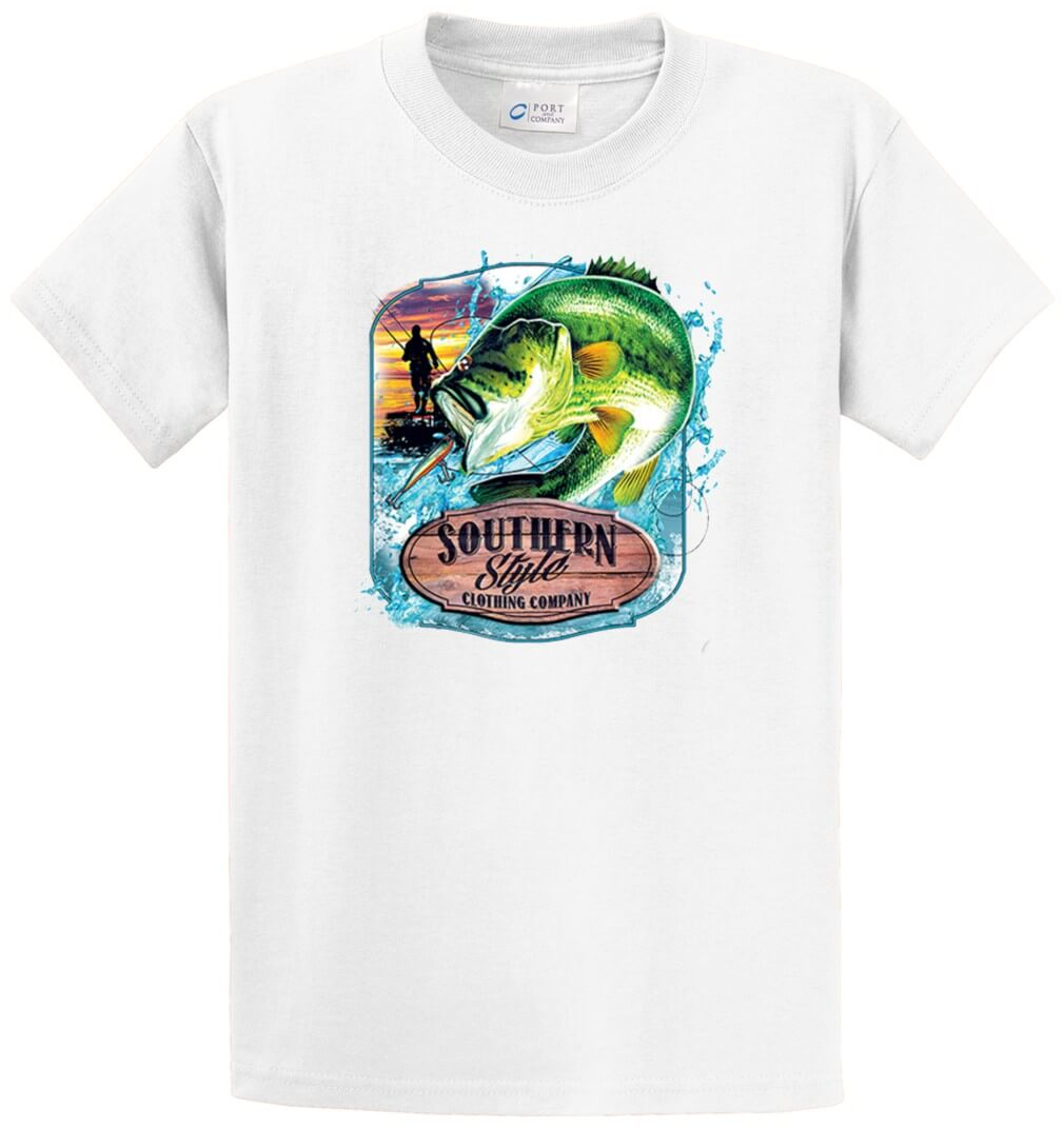 Bass Souther Style Clothing Printed Tee Shirt-1