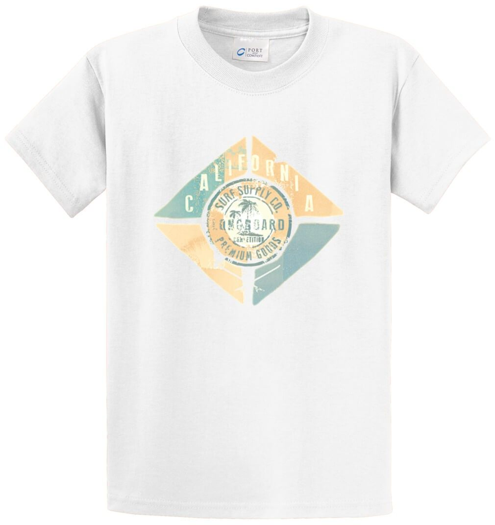 California Beach Printed Tee Shirt-1