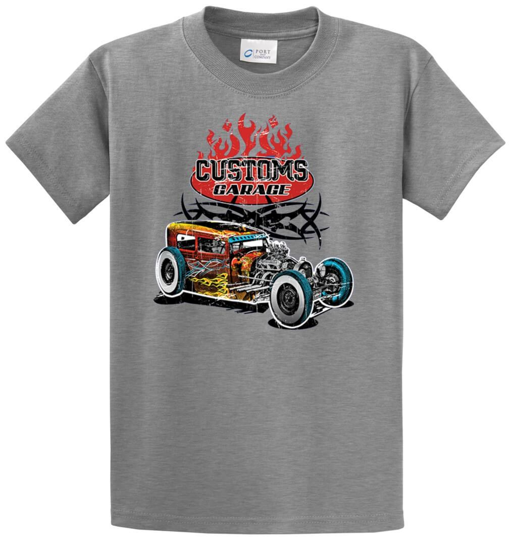 Customs Garage Printed Tee Shirt-1