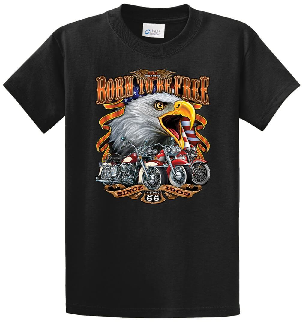 Born To Be Free 66 Printed Tee Shirt-1