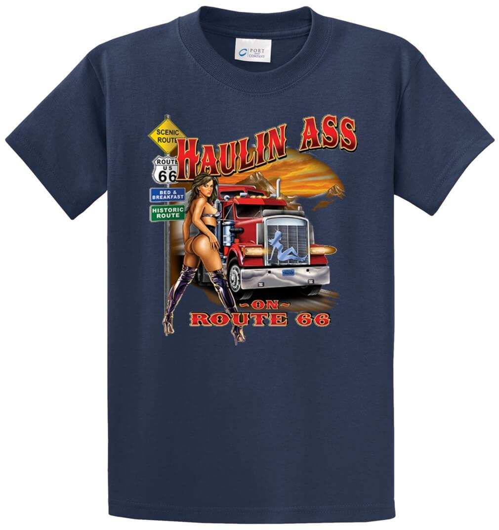 Haulin Ass Printed Tee Shirt-1