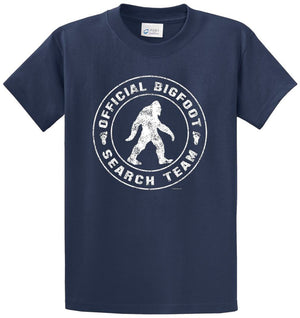Official Bigfoot Search Team Printed Tee Shirt