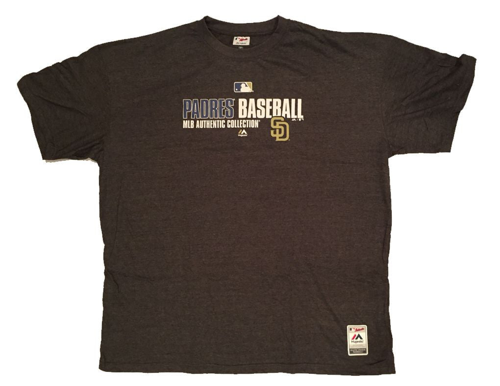 Majestic Padres Baseball Big Man Tee Shirt Closeout