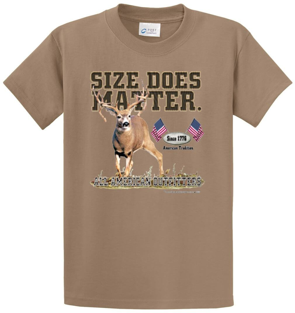 All American Outfitters Size Does Matter Printed Tee Shirt-1