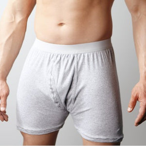 Players Big Men's White Cotton Mid Length Briefs