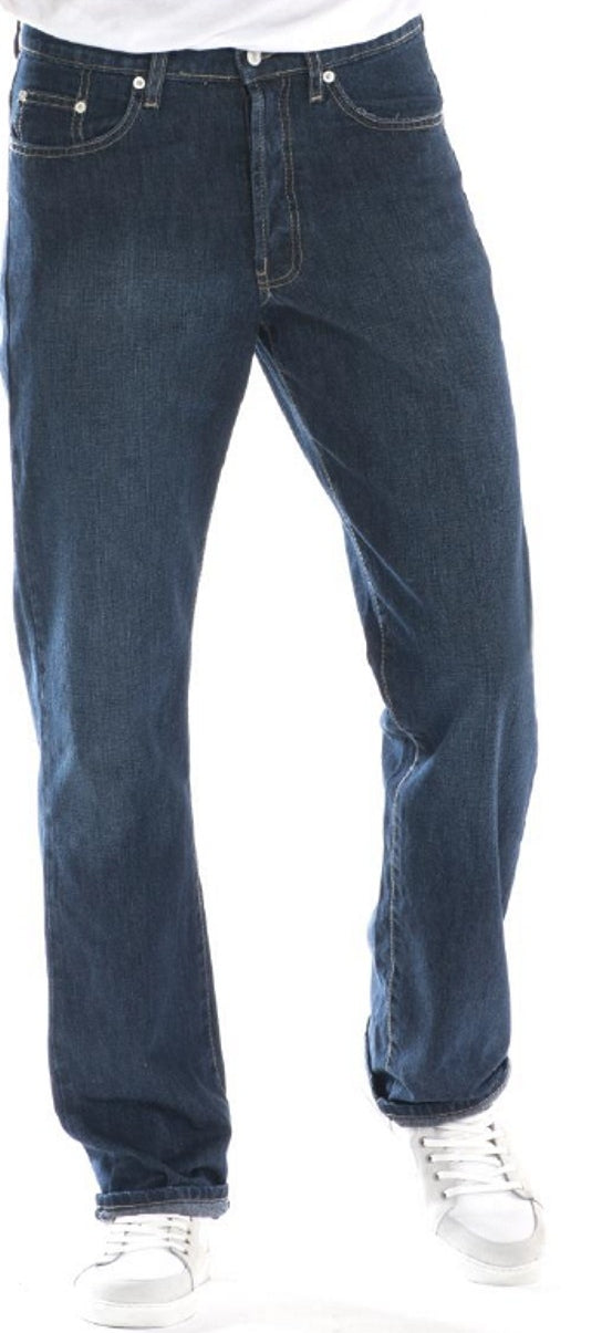 Full Blue Brand Men's Regular Fit Stretch Jeans Blue Black